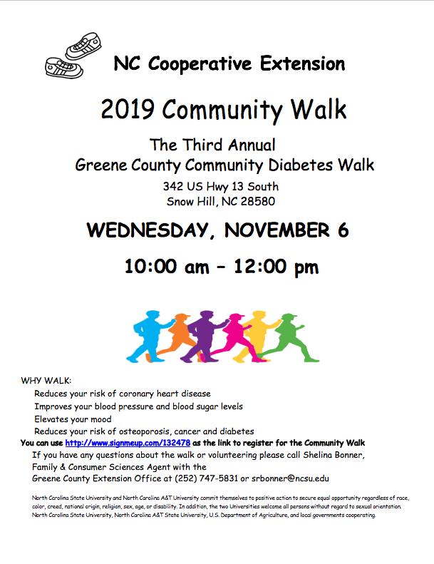 Community walk flyer image